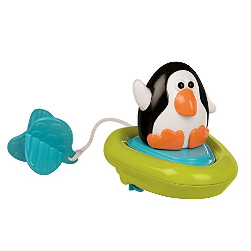 Sassy Pull and Go Boat Bath Toy, Penguin (Sassy Toy Bath Infant)