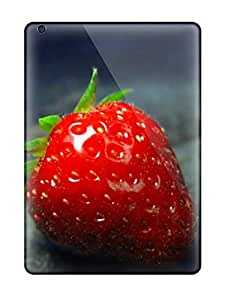 Shock-dirt Proof Strawberry On An Dark Case Cover For Ipad Air
