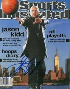 Autographed Jason Kidd Photograph - (Sports Illustrated Magazine - Autographed NBA Photos