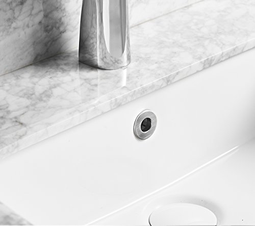 Greenspring Sink Basin Trim Overflow Cover Brass Insert in Hole Round Caps Brushed Nickel