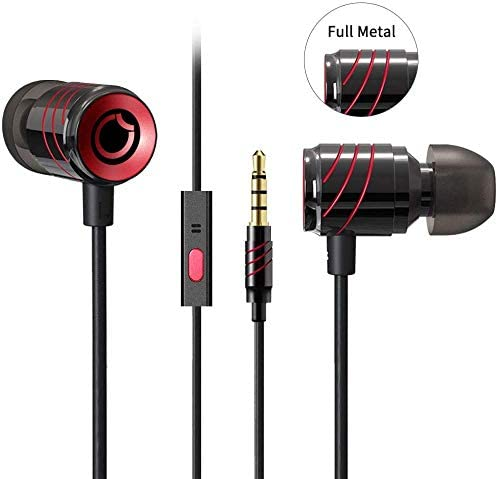 Earbuds Ear Buds in Ear Headphones Wired Earphones with Microphone Mic Stereo and Volume Control Waterproof Wired Earphone MUEY015