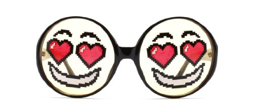 Jeremy Scott by Linda Farrow Unisex Jsemoticon Black Frame Yello Lens Sunglasses - 67mm width - Scott Jeremy Linda Farrow