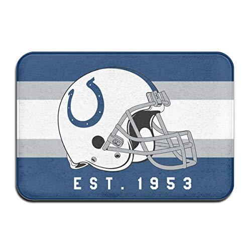Jacoci Custom Indianapolis Colts Doormats Non Slip Heavy Floor Door Mats Rugs Bahroom Decor Standard Size 15.7 X 23.6 -