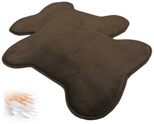 2 Quantity: Brown Bone Shaped Fleece Comfort Soft