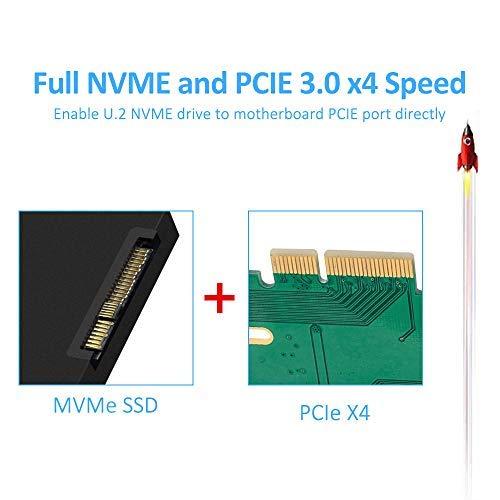 ELUTENG NVMe PCIe Adaptador con Conector SATA 2.5 Pulgadas U.2 SFF-8639 Adaptador de Host PCI-e 4X NVMe Tarjeta Adaptador Compatible con Intel 9 Series y Placa Base Superior