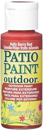 DecoArt Patio Paint, 2-Ounce, Holly Berry Red (Paint Patio)