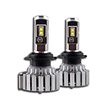 NIGHTEYE H7 LED Headlight Bulbs - 6000K Cool White 70W 9000LM - 3 Year Warranty