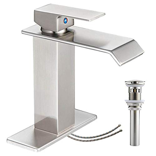 Top bathroom faucets brushed nickel single hole for 2020