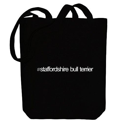 Canvas Idakoos Tote Bag Hashtag Hashtag Terrier Bull Dogs Idakoos Staffordshire R460dwqx6