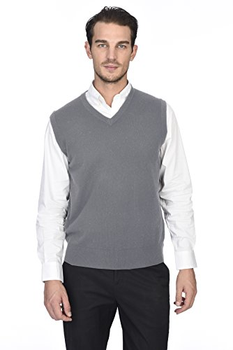 Mens Regular Merino Wool - State Cashmere Men's 100% Pure Cashmere Regular Fit Pullover Casual Sweater Vest