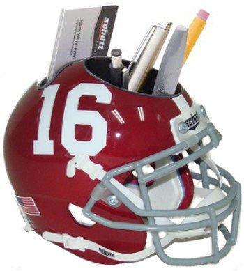 Alabama Crimson Tide 16 Ncaa Football Schutt Mini Helmet Desk Caddy