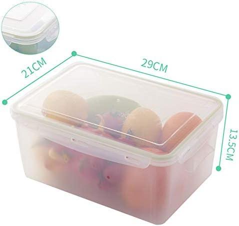 XDDan Nevera Organizador, Frigorífico Organizador Bin, Caja De Almacenamiento De Alimentos Cabe La Mayoría De Neveras, Claro De Plástico, 4 Piezas,C,6500ML: Amazon.es: Hogar