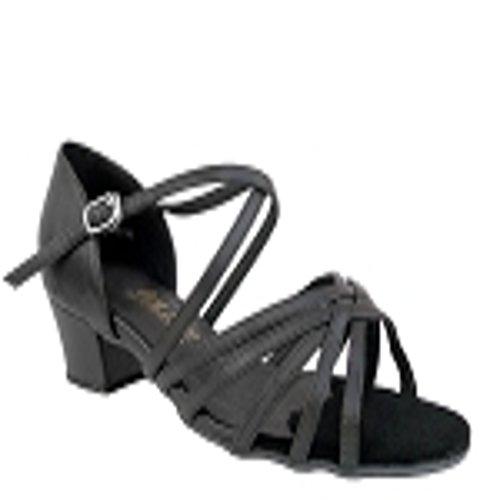 Meget Fine Damer Sort Skinn Sandal 1670 I Størrelse 9,5 Med 1,5 Tommer Hæl