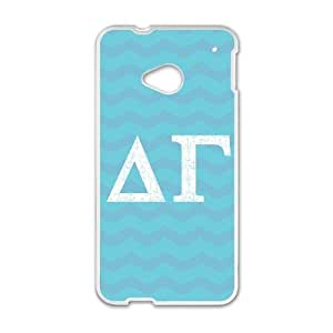 Delta Gamma Chevron HTC One M7 Cell Phone Case White phone component RT_168654