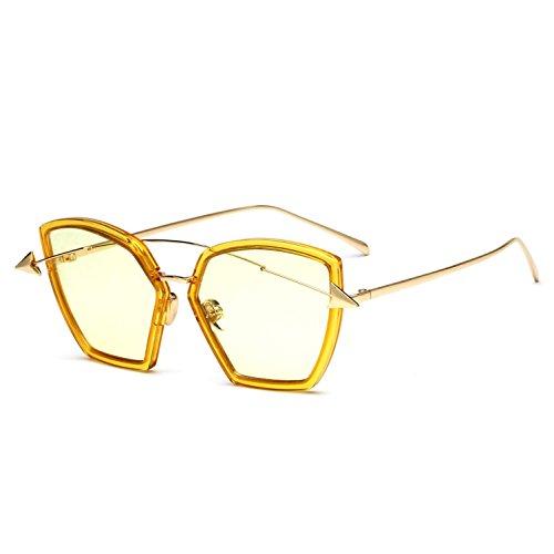 grande Trend americano sol de UV400 y RDJM mujer Gafas de para Frog Mirror Gafas hombre para sol metal estilo marco de c F europeo y RRaApv