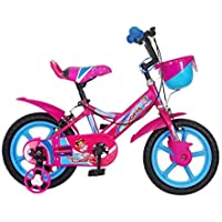 MAD MAXX BIKES MOJOSPIN 14 INCHES Kids Cycle for 3 to 5 Years Boys and Girls, RED/Sky Blue/Pink, 14T
