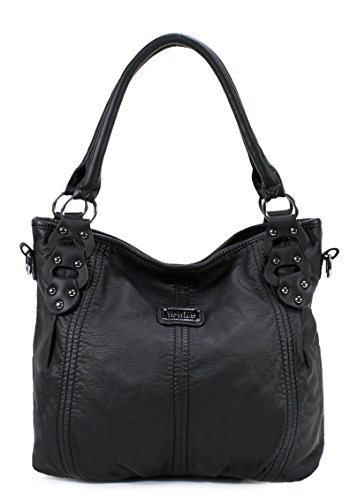 Scarleton Washed Hobo Bag H153301A - Black (Washed Leather Hobo)