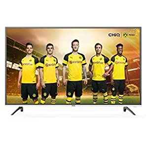CHiQ U40E6000 102 cm (40 Zoll) 4K HDR Smart LED-Fernseher (UHD, Triple Tuner, Netflix YouTube TV) Schwarz/Grau