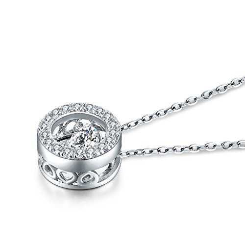 yl Dancing Diamant Argent sterling Pendentif Oxyde de Zirconium Chaîne 45,7cm