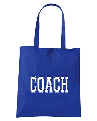 OLDENG00796 COACH Borsa Shopper Blu Royal prtrI