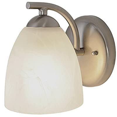 Monument 617634 Contemporary Brushed Nickel Vanity Fixture, 5 In.