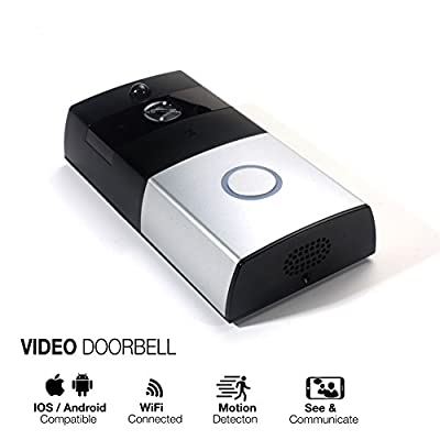 Prismtec Wifi Video Doorbell 720P Wireless Home Security Door Bell Camera System With 3400mAH Battery Support IR Night Vision Smart PIR Motion Detetion waterproof noise cancelling 2-Way APP Audio