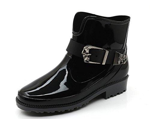 YFS レディース レインシューズ ショート雨靴 レインブーツ オシャレ 雨の日晴れの日兼用 快適 防水 耐滑 可愛い