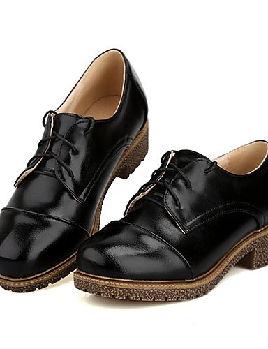 Njx Damen Schuhe Low Ferse rund rund rund Oxford Kleid Casual Schwarz Braun Rosa Beige Burgund B01KHBRC9I Schnürhalbschuhe Vorzugspreis 586a92