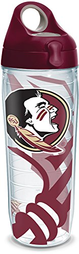 Tervis 1289196 Florida State Seminoles Water Bottle With Lid, 24 oz, Clear ()