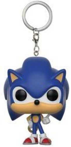 Funko - Sonic with Ring Pocket Pop! Keychain, Multicolor, 2