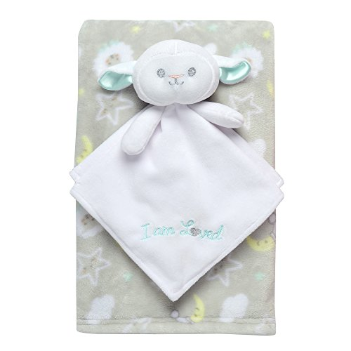 Baby Starters 2-Piece Snuggle Buddy and Blanket Set, Lamb