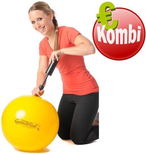 Pezzi Original Gymnastikball MAXAFE /Ø 42 cm bis 75 cm Sitzball Gymnastik Sport Ball B/üro Fitness Reha Therapie