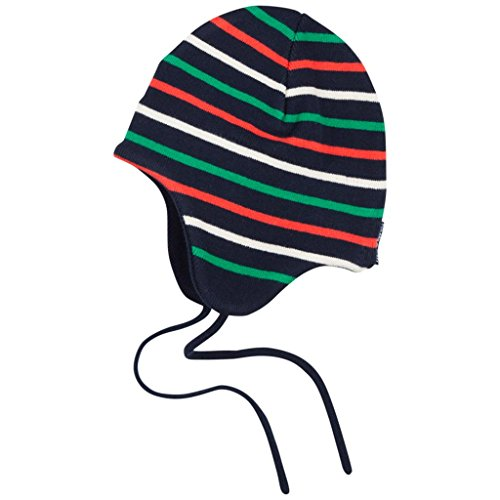 - Polarn O. Pyret Signature Stripe Wind Proof Helmet (Baby) - 4-9 Months/Dark Sapphire
