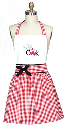 Kay Dee Designs R3861 Kiss The Cook Embroidered Hostess Apron