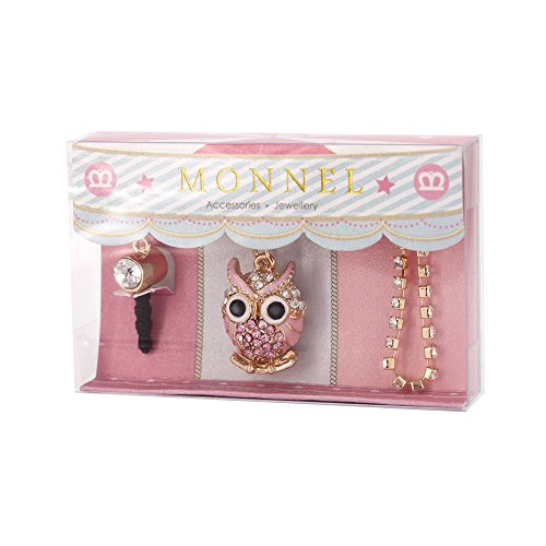 - Cell Phone Charm Anti Dust Plug Pink Owl Accessory for iPhone 5 5s 6 6s, ipods, ipads IP606-M0316