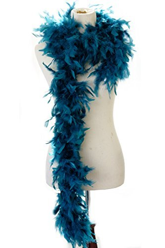 40 gram Burlesque Costume Deluxe Feather Boa : Soft Full Vegas Style 6 ft. (Halloween Costumes Las Vegas Stores)