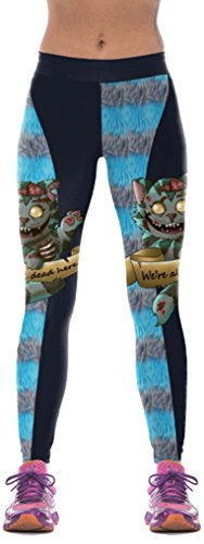 Thenice Women's Halloween Sport Yoga Stretchy Leggings Pencil