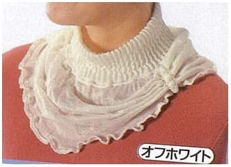 UVケア 首元を日焼けから守る シルク 襟元カバー (オフホワイト)