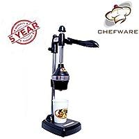 CHEFWARE Aluminium Hand Press Juicer   Manual Juicer (Black/Grey)   Citrus juicer   5 YEAR Warranty   1 Minute juicer  