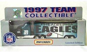 1997 Matchbox 1:87 Scale NFL Die Cast Tractor Trailer Truck PHILADELPHIA EAGLES