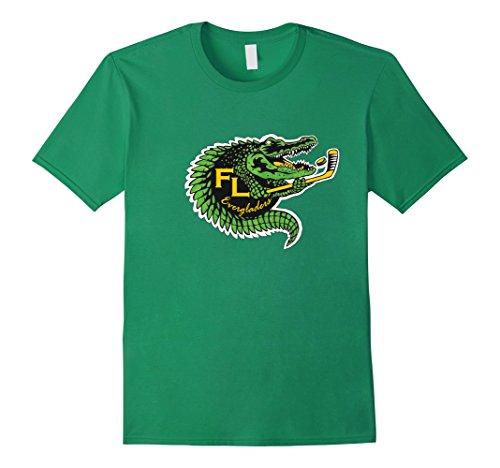 Everglade Alligator (Mens Florida Everglades Alligator Hockey Shirt Small Kelly Green)