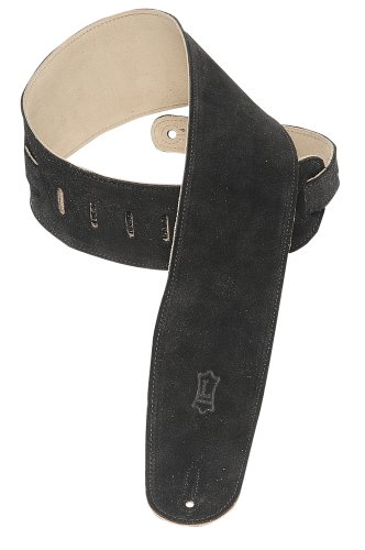 Levy's Leathers MS4-BLK Suede-Leather Bass Strap,Black
