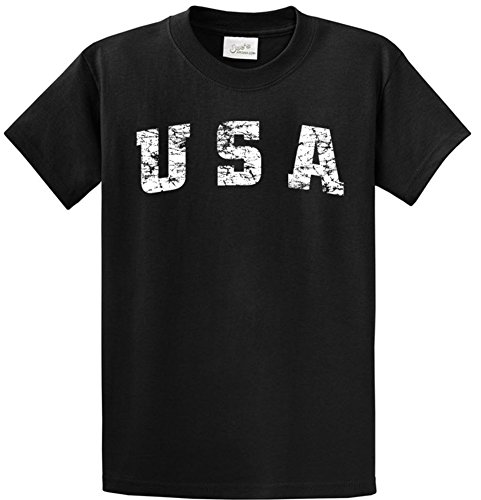 Joes USA Vintage USA Logo Tee Tees in 42 Colors and Regular, Big and Tall Sizes