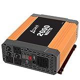 Ampeak 2000W Power Inverter 3 AC Outlets DC 12V to