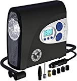 P.I. AUTO STORE - Tire Inflator 12V DC Air Compressor, Portable Electric Pump, Digital Pressure Gauge, New Improved Version. For car, motorbike, SUV, RV, ATV. with Storage Bag