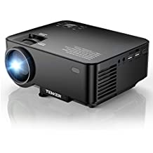 "TENKER Upgrade +10% Lumens 4.0"" LCD Mini Projector, Portable Home Theater Projector 170"" Display, Support 1080P HDMI USB SD Card AV VGA for TV Laptop Game Smartphone Includes HDMI Cable"