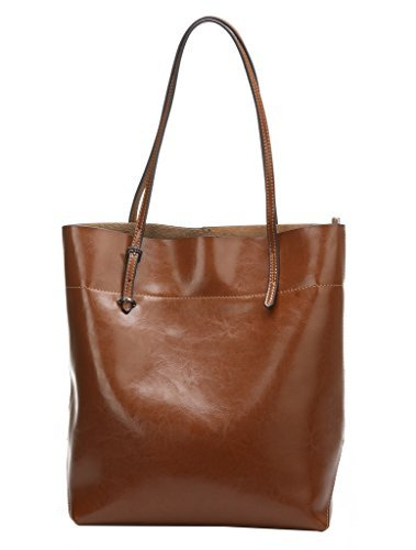- On Clearance Obosoyo Women's Handbag Genuine Leather Tote Shoulder Bags Soft Hot Purse Brown