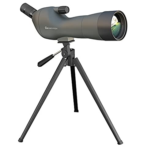 Emarth 20-60x60AE Waterproof Angled Spotting Scope with Tripod, 45-Degree Angled Eyepiece, Optics Zoom 39-19m/1000m Army (Binocular 60x)