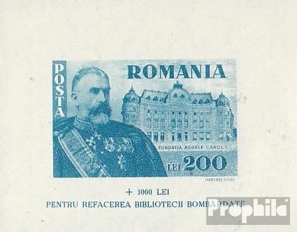 Romania Block - Romania Block 26 (Complete.Issue.) 1945 Foundation King Karl I. (Stamps for Collectors)