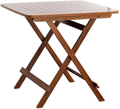 YZjk Mesa Plegable Taburete Mesa portátil de bambú Mesa Plegable ...